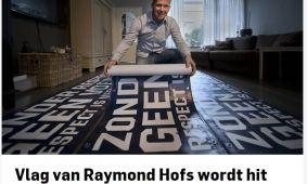 Schoonmaakbedrijf Hofs uit Arnhem met Spandoeken actie: Zonder Respect Geen Voetbal in De Gelderlander